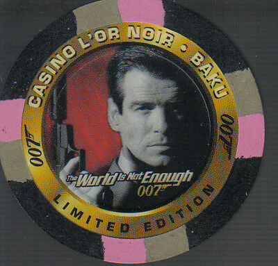 James Bond The World Is Not Enough Casino Chip C1