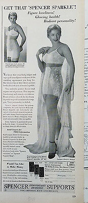 1949 Spencer Supports Womens Girdle Bra Garters Fashion   Ad