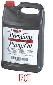 Premium High Air Vacuum Pump Oil, Quart, Case Robinair 13203CS ROB LP