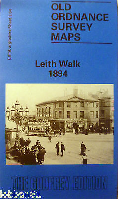 OLD ORDNANCE SURVEY DETAILED MAPS LEITH WALK EDINBURGH 1894 Sheet 3.04 New Map