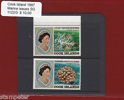 1987 Cook Islands Marine Issues SG 1122/3 Set of 2 MUH
