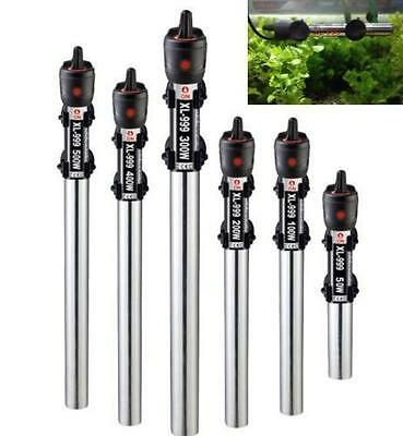 Submersible Stainless Steel Water Heater Rod Aquarium Fish Tank 50W~500W 220V