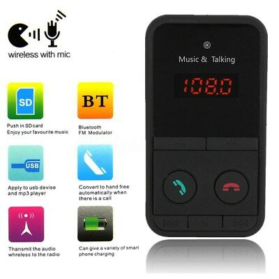 Wireless Bluetooth FM Transmitter Car Kit MP3 Player SD USB LCD Charger + Remote
