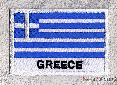 embroidered badge patch sew-on country flag greece Greece 70/45 mm / patch 008