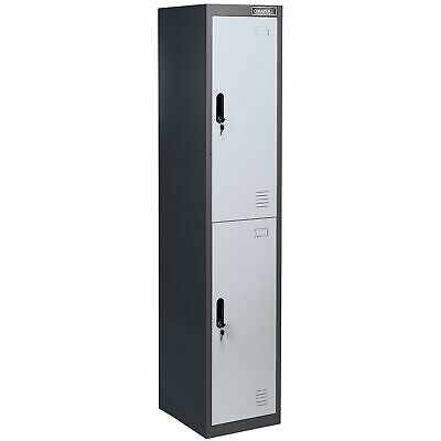 Draper 2 Door Storage Locker With Clothes Rail - 380 x 450 x 180mm - 54809