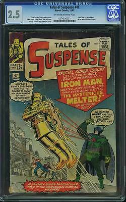 Tales of Suspense # 47  The Mysterious Melter !   CGC 2.5 scarce book !