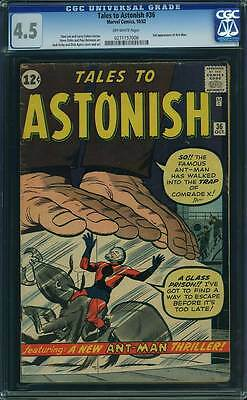 Tales to Astonish # 36  3rd appearance of Ant-Man !  CGC 4.5 scarce book !
