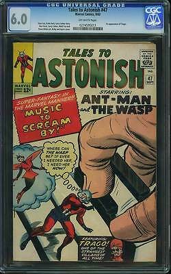 Tales to Astonish # 47  Music to Scream By !  CGC 6.0 scarce book !