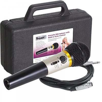 Mr Entertainer Dynamic Vocal Microphone Echo Effect DJ Karaoke + Mic Lead & Case