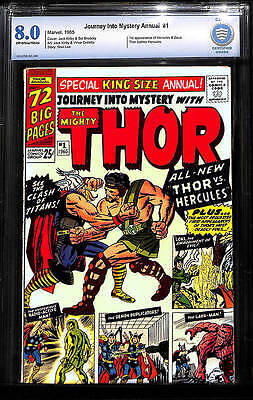 Journey into Mystery Annual # 1  1st app. of Hercules !   CBCS 8.0 scarce book !