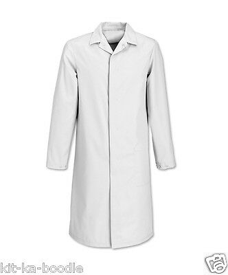 White Food Coat Lab Laboratory Warehouse Hygiene Doctor Medical Overcoat SN28