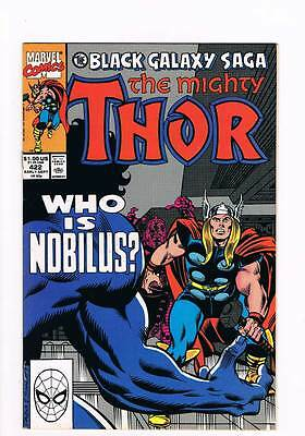 Thor # 422 Then What Are Gods ? The Black Galaxy Saga grade - 8.5 hot book !!