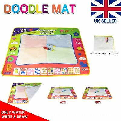 Aquadoodle Mat/Aquadraw Mess Free Water Drawing Mat and 2 Pens Large 80CM x 60CM