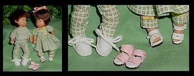 Doll Shoes Tamsen 23mm YELLOW T-Straps fit Kish Ellery Wee Patsy