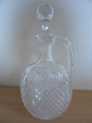 Antique Brilliant Cut Crystal Decanter/Stopper Hawkes? Pineapple Fan Pattern