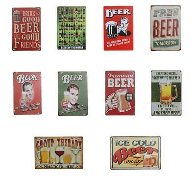 Vintage Metal Tin Sign Plaque Wall Art Poster Sheet Cafe Bar Pub Beer Pattern