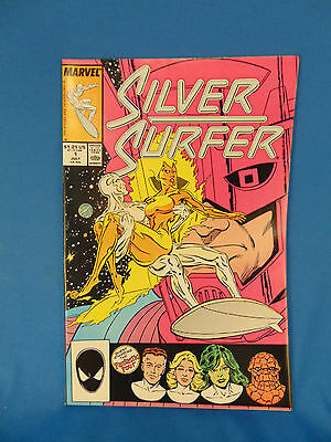 Silver surfer comic book Vol. 3 #1 Marvel 1987 Fantastic four app superhero art