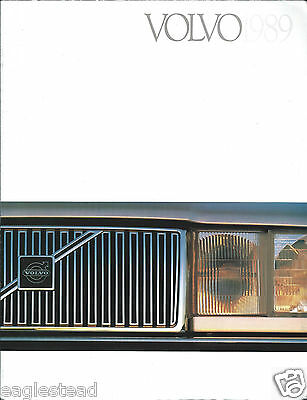 Auto Brochure - Volvo - Product Line Overview - 1989  (AB933)
