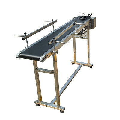 110V/60Hz PVC Belt Conveyor With Double Fence Special Price 59''x 7.8'' Hot Sale