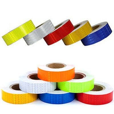 3M 25M 38M Reflective Safety Warning Conspicuity Tape Film Sticker Roll Strip