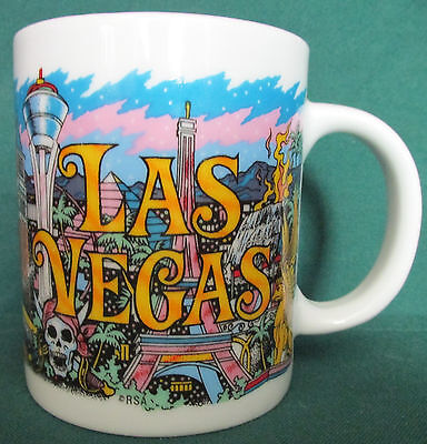 Las Vegas Casino Coffee Cup Showing All Of The Great Casinos
