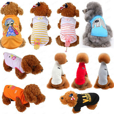 Summer Various Pet Puppy Small Dog Cat Clothes Vest T Shirt Dress Apparel Shirt