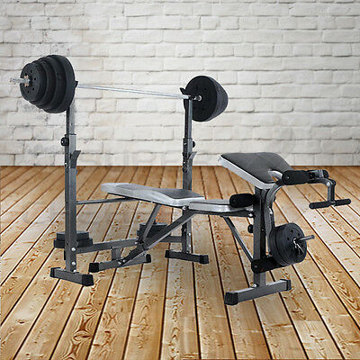 Gym Fitness Exercise Incline Decline Weight Bench Press Squat Rack