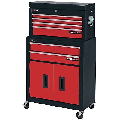 Draper Two Drawer Roller Cabinet And Six Drawer Tool Storage Chest - 80927