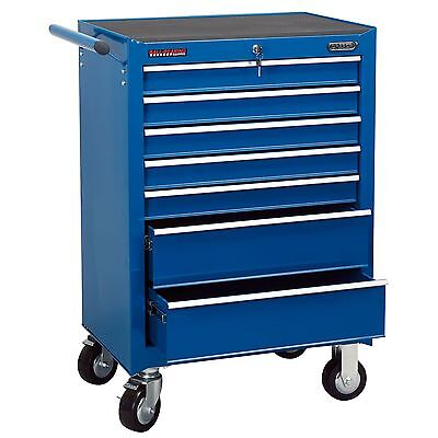 Draper 7 Drawer Blue Roller Garage/Workshop Work Tool Storage Cabinet - 80242