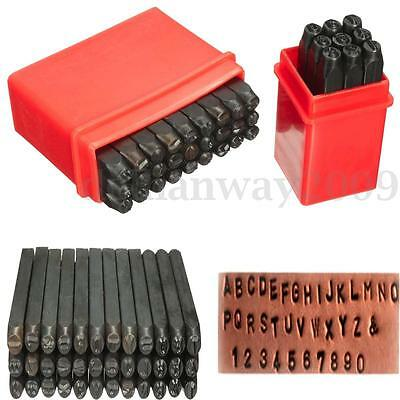 36pcs 4mm New Stamps Letters Alphabet Numbers Set Punch Steel Metal Tool Craft