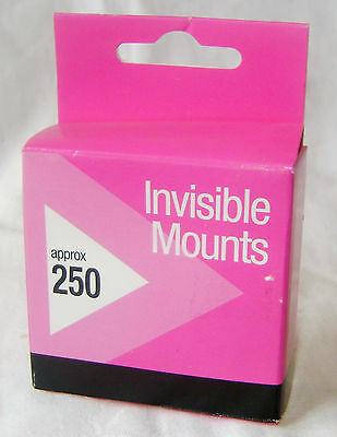New 250 Invisible Photo Mounts Double Sided Sticky Self Adhesive Rectangles Pkbx