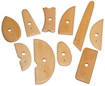 Wooden Scraper Tools : 10 Piece Set