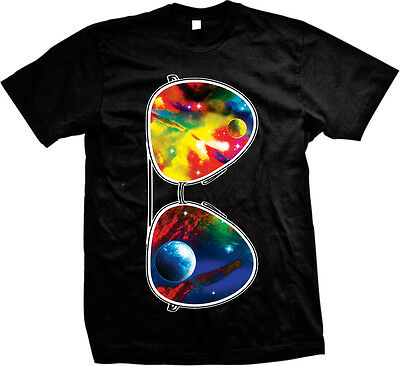 Galaxy Sunglasses Trippy Dazy Planets Psychedelic Oversized Mens T-shirt