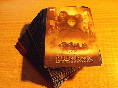 Lord Of The Rings Fellowship Of The Ring Update Complete Set Of 72 Cards