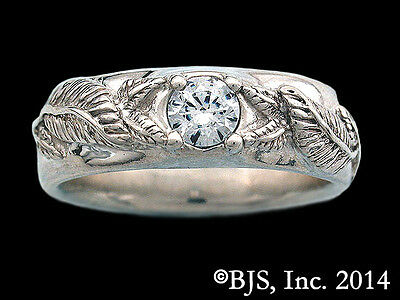 Silver Men's Nenya, Ring of Lothlorien, Licensed Lord of the Rings Jewelry, New