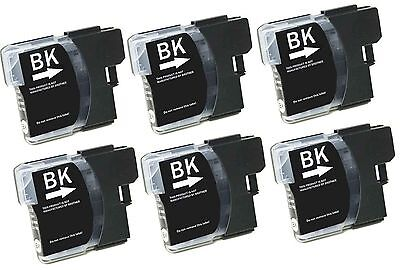 6 Ink Non-Oem Brother Lc61 Lc-61Bk Black Mfc-295Cn 490Cw 495Cw Mfc-5490Cn 5890Cn