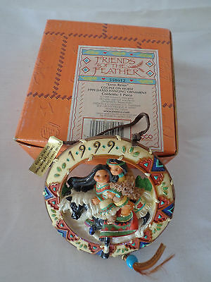 FRIENDS OF The FEATHER Love Reins Couple On Horse Ornament 1999 New In Box
