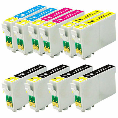 10 Non-Oem Ink For Epson 126 T126 Nx330 Nx430 Workforce 435 520 545 630 633 840