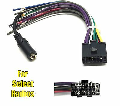 car stereo radio replacement wire harness plug for select jvc  car stereo radio replacement wire harness plug for some dual 16 pin 3 5mm radio
