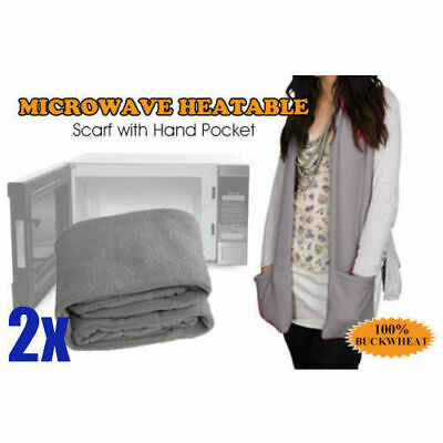 2 x Microwave Heatable Scarf with Hand Pockets
