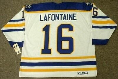 67a9c0108 PAT LAFONTAINE Buffalo Sabres 1992 CCM Vintage Throwback Home NHL Hockey  Jersey