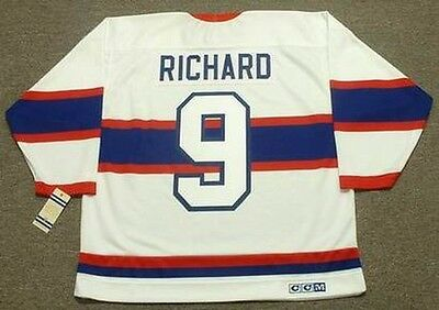 d7169924bee MAURICE RICHARD MONTREAL Canadiens 1946 CCM Vintage Throwback NHL Hockey  Jersey