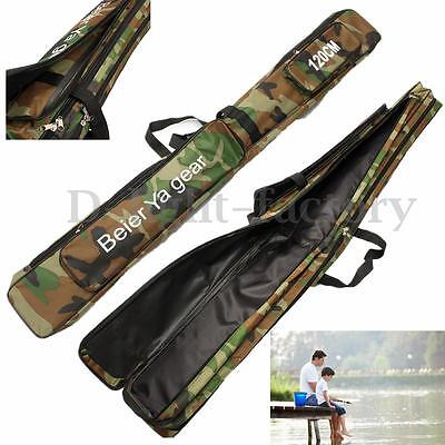 Rod Fishing Bag 2 Layer Case Carry Cover Storage Organizer Holder Tackle 120cm