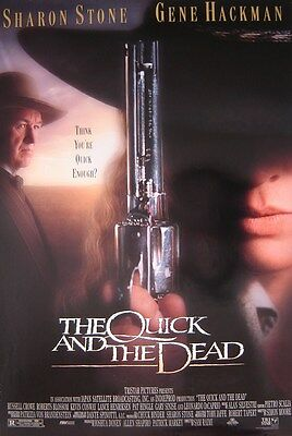 The Quick and the Dead (1995) ORIGINAL MOVIE POSTER, Sharon Stone, Gene Hackman,