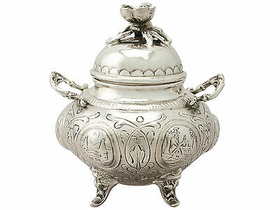 Dutch Antique Sterling Silver Sugar Bowl and Cover - Edwardian