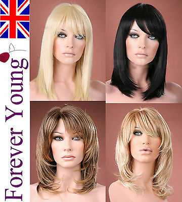 Ladies Long Wigs Blonde Black Brown Red Straight Fashion Wig Forever Young Wigs