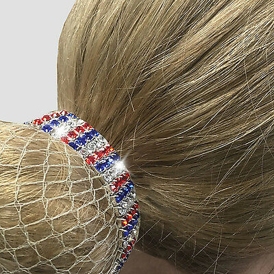 Equetech Patriot Crystal Bun Ring Scrunchie CBR **SALE PRICE WERE £6.95**