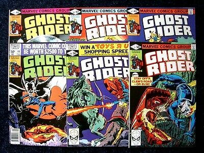 GHOST RIDER Bronze Age Marvel Comic Books ~ Lot of (6) Different