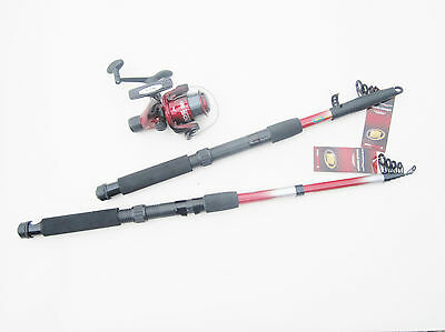 1 x 7' Spinning Rod and Reel Spooled with 6 lb Line Light sea fishing Pier Carp