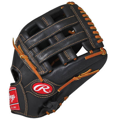 """Rawlings Premium Pro 12.5"""" Outfield Baseball Glove, Right Hand Throw"""